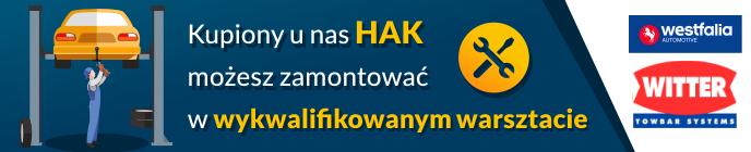 haki holownicze z montażem Kraków